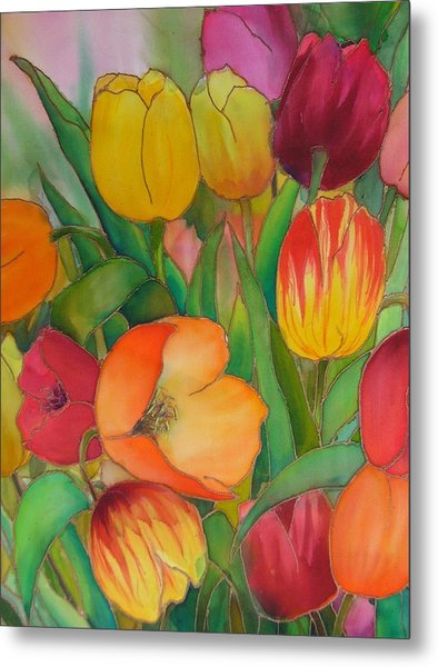 Tulips Metal Print by Evelyn Antonysen