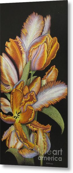 Tulips Of Fire Metal Print