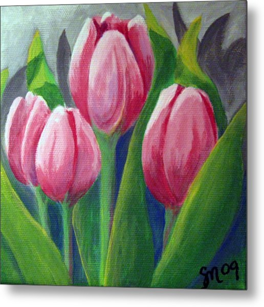 Tulips Metal Print by Sharon Marcella Marston