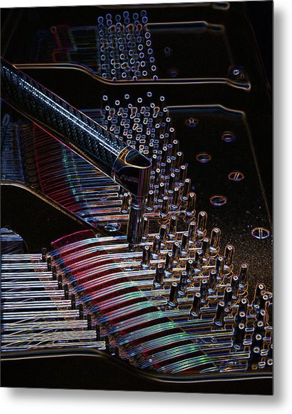Tuning A Steinway For Jazz Metal Print