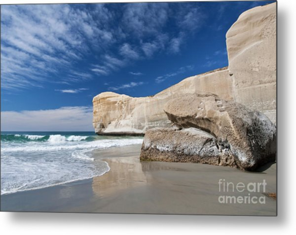 Tunnel Beach 1 Metal Print