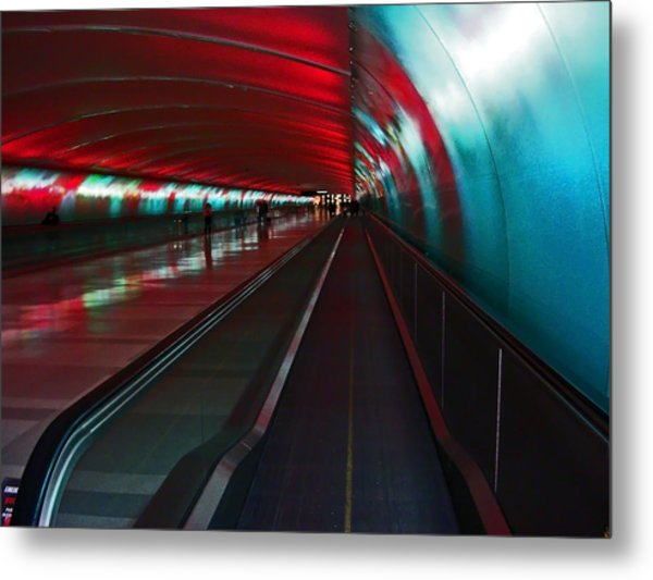 Tunnel Of Light Metal Print