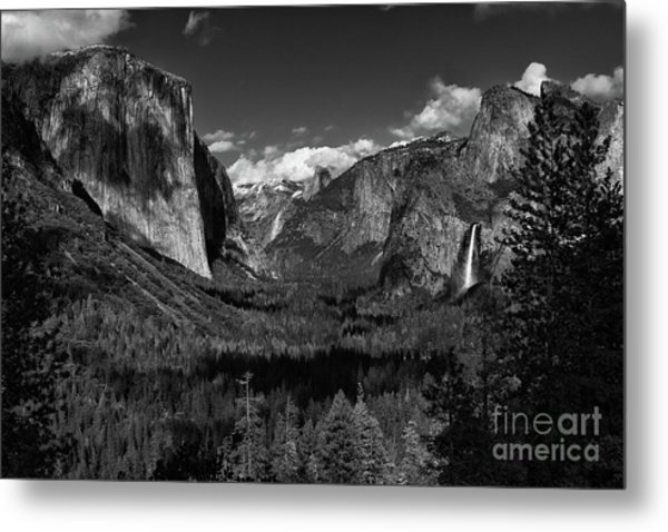 Tunnel View Black And White  Metal Print
