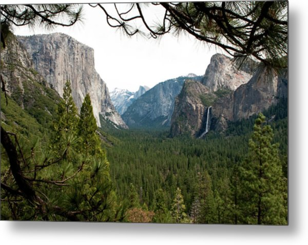 Tunnel View Framed Metal Print