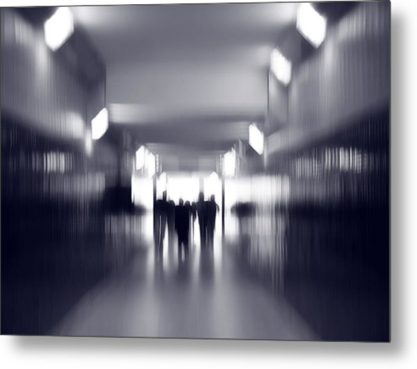 Tunnel Vision Metal Print by Artecco Fine Art Photography