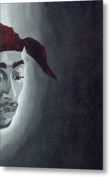 Tupac Metal Print by Rishanna Finney