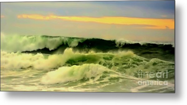Turbulent Ocean Swell Metal Print