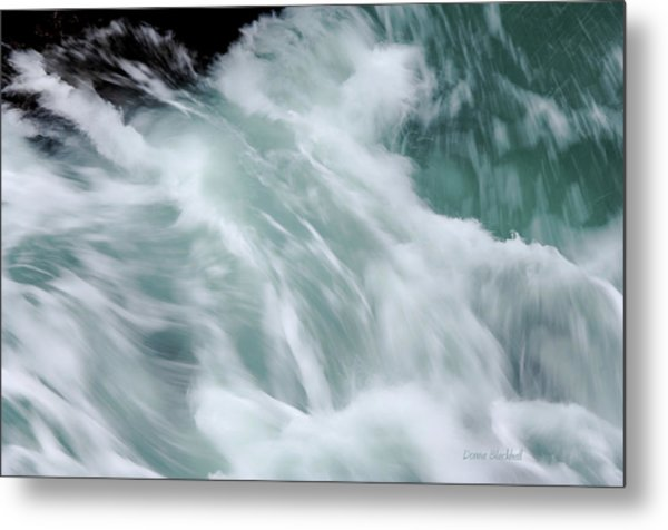 Turbulent Seas Metal Print