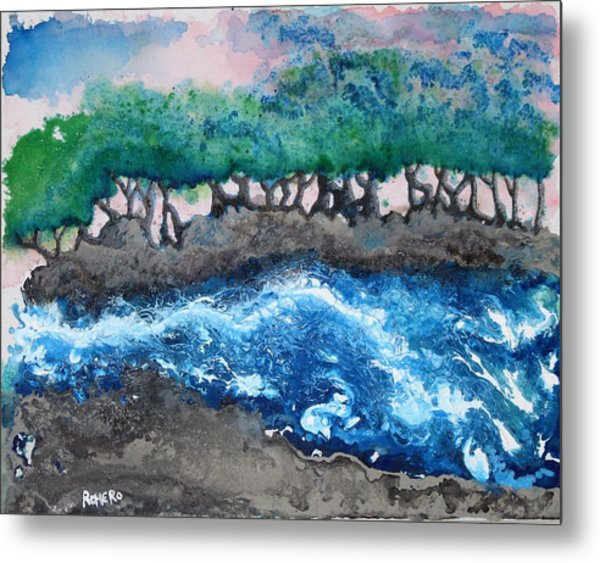 Metal Print featuring the painting Turbulent Waters by Antonio Romero