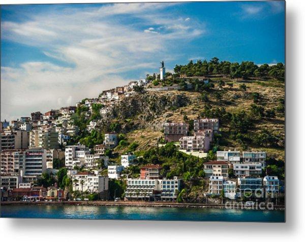 Turkey Coastal Village Metal Print by Ken Andersen