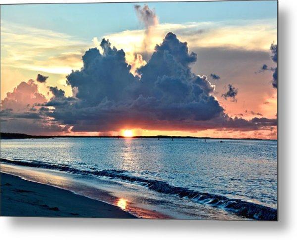 Turks And Caicos Grace Bay Beach Sunset Metal Print