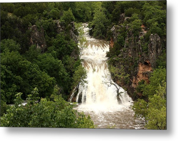 Turner Falls Waterfall Metal Print