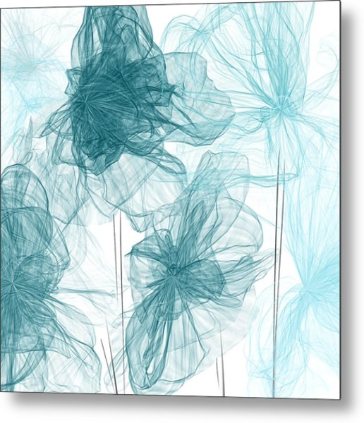 Turquoise In Sync Metal Print