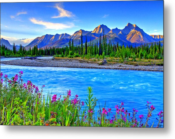Turquoise River Metal Print