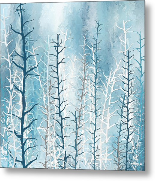Turquoise Winter Metal Print