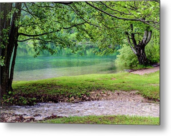 Turquoise Zen - Plitvice Lakes National Park, Croatia Metal Print