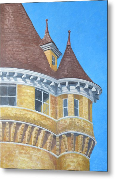 Metal Print featuring the drawing Turrets Of Lawson Tower by Dominic White