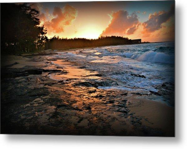 Turtle Bay Sunset 1 Metal Print