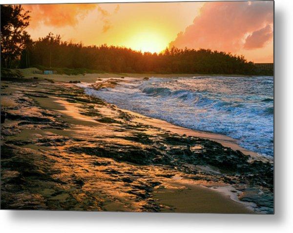 Turtle Bay Sunset 2 Metal Print