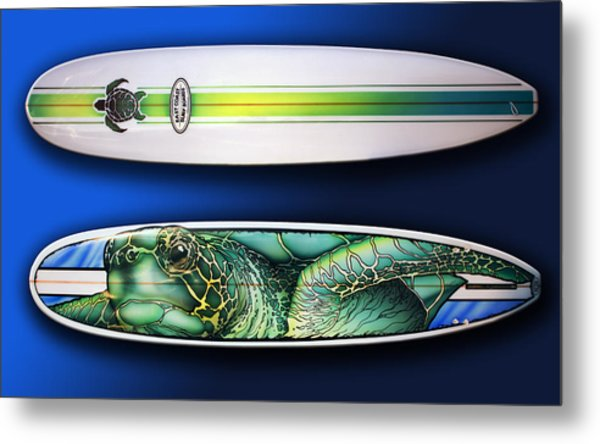 Turtle Board Metal Print