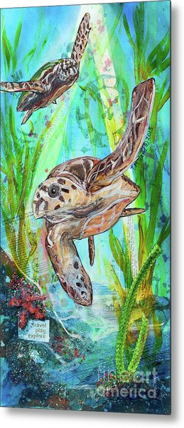 Metal Print featuring the painting Turtle Cove by TM Gand
