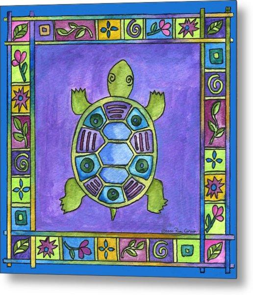 Turtle Metal Print by Pamela  Corwin