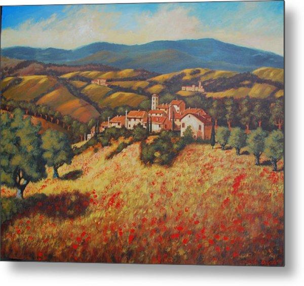 Tuscan Countryside Metal Print by Santo De Vita