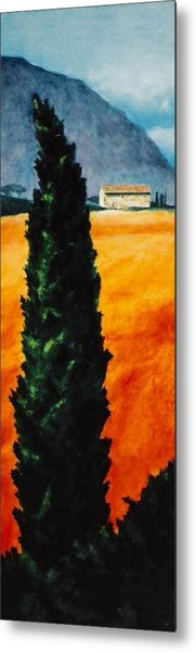 Tuscan Cypress Metal Print