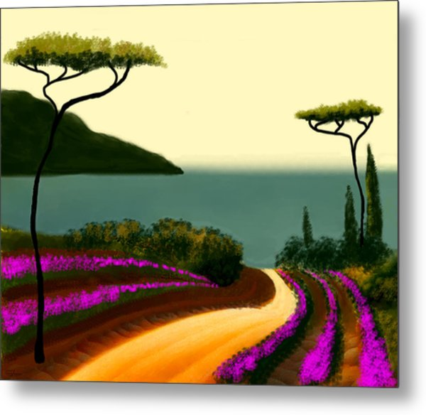 Tuscan Fields Of Beauty Metal Print