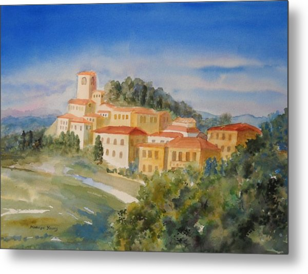 Tuscan Hilltop Village Metal Print