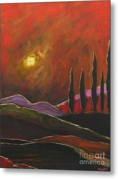 Tuscan Sunset Rage Metal Print
