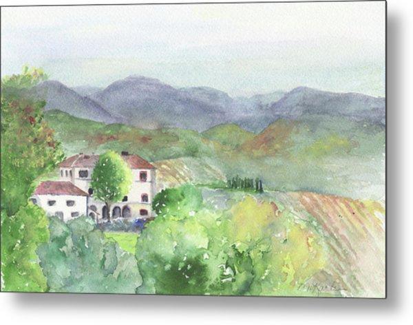 Tuscan Vineyards Metal Print