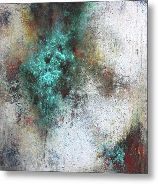 Tuscany Oil And Cold Wax Metal Print