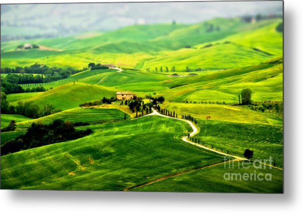 Tuscany S Green Scapes Metal Print by Alessandro Giorgi Art Photography