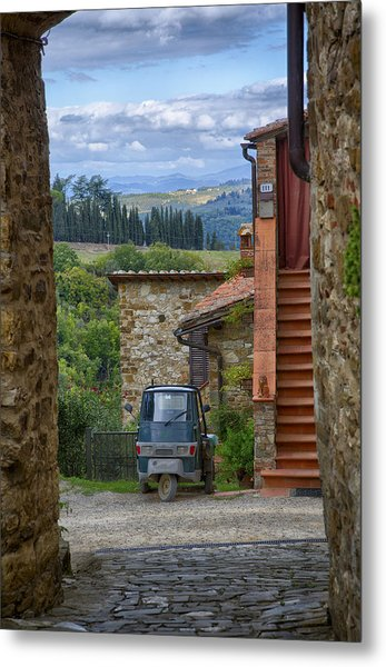 Tuscany Scooter Metal Print