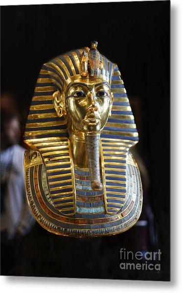Tutankhamun's Magnificent Golden Death Mask. Metal Print