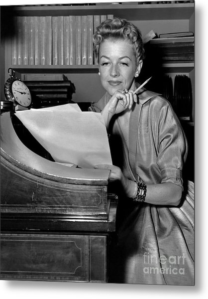 Tv And Big Screen Actress, Betty Furness. 1956 Metal Print by Anthony Calvacca