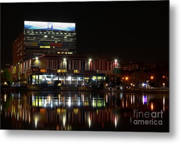 Tv Center Metal Print