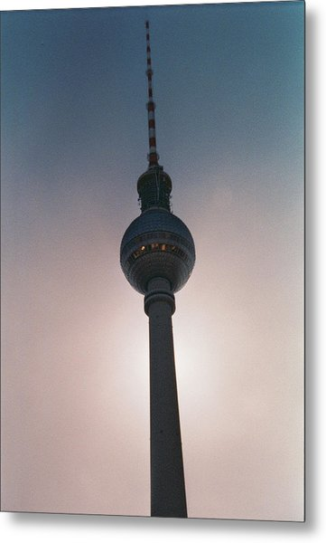 Tv Tower Berlin Metal Print
