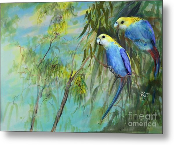 Two Pale-faced Rosellas Metal Print