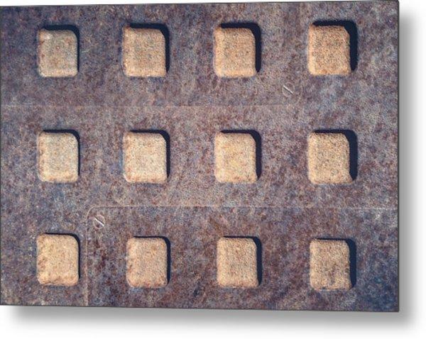 Twelve Squares Metal Print