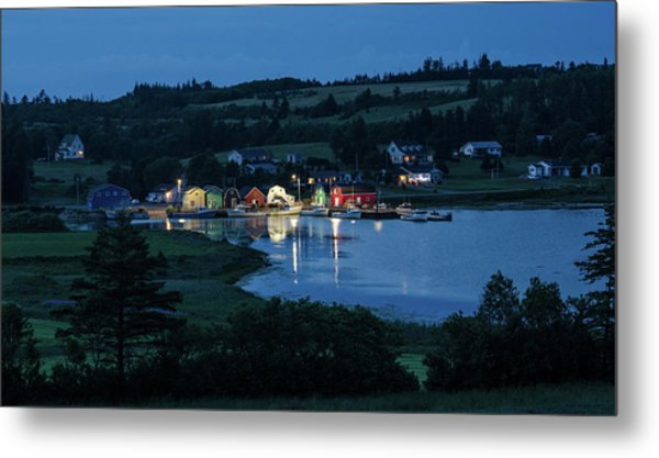 Metal Print featuring the photograph Twilight At French River Harbour, Pei by Rob Huntley