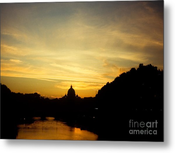 Twilight Behind The Vatican Metal Print by Fabrizio Ruggeri