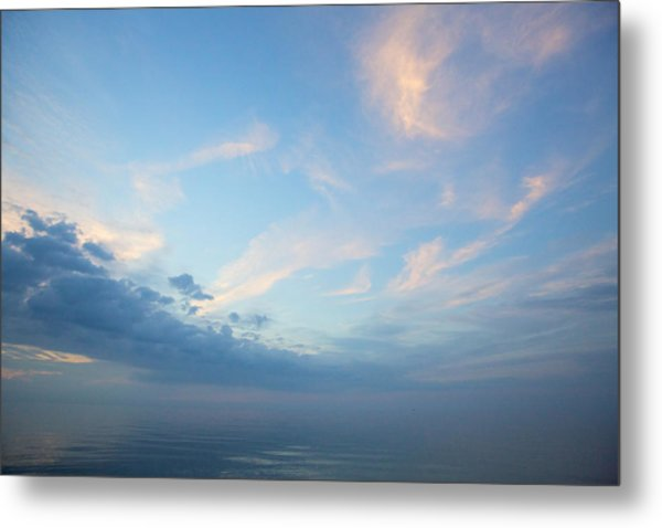 Twilight Clouds Over Lake Superior Metal Print