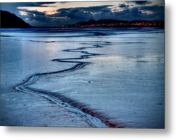 Twilight, Conwy Estuary Metal Print