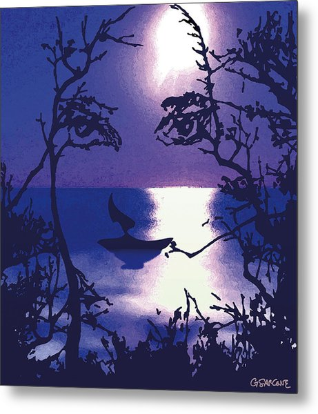 Twilight Face Metal Print