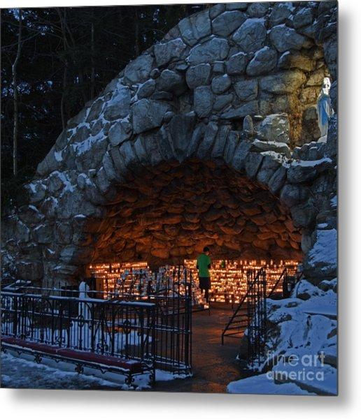 Twilight Grotto Prayer Metal Print