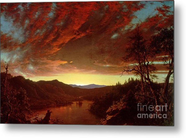Twilight In The Wilderness Metal Print