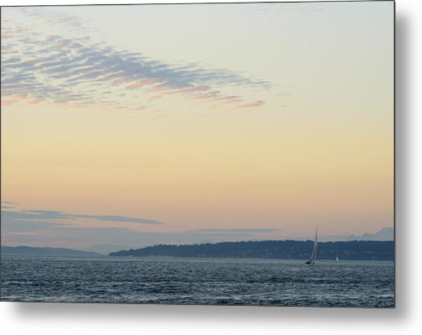 Twilight Moment In Puget Sound Metal Print