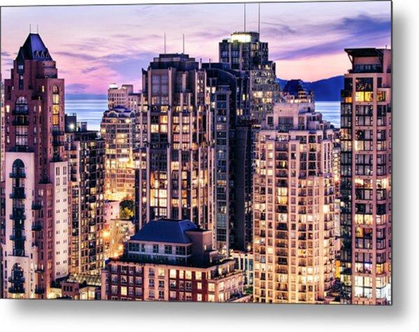 Twilight Over English Bay Vancouver Metal Print